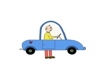 voiture anti pollution, système à pied !
