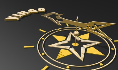 golden compass pointing the zodiac virgo constellation name