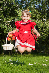 laughing girl throwing up redapples