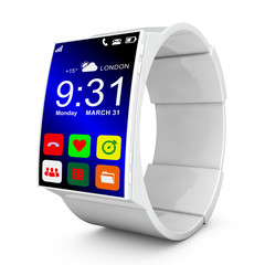 white smart watches