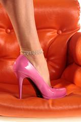 Pinker Damenschuh Lackschuh