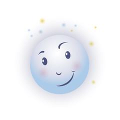 smiling moon stars
