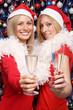 2 Frauen in Weihnachtskostüm