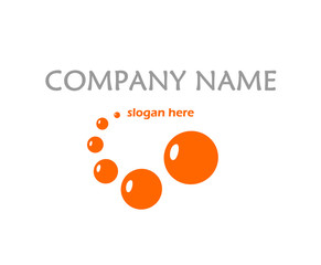 Orange logo with bubbles