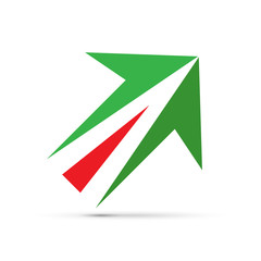 Vector sign italian arrow