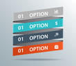 Modern business ribbon origami style options banner. Vector illu