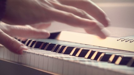 a man playing the piano, 4K