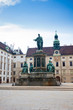 Hofburg Palace courtyard with Emperor Franz I monument