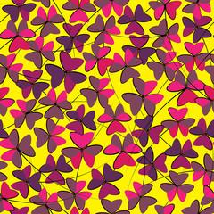 oxalis flower seamless pattern