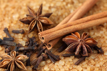 Spices and brown sugar