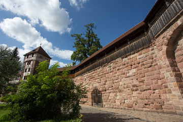 nuernberg medieval city wall
