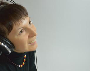 Girl, headphones