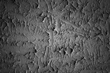 abstract stucco wall background. black and white.