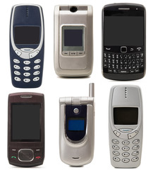 vecchi telefoni cellulari collage