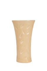 ceramic flower vase isolated on white background