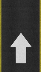 Arrows on Asphalt road texture
