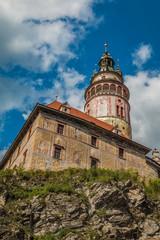 Cesky Krumlov Tower in Czech Repulic