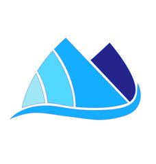 Logo Blue Mountains icon vector