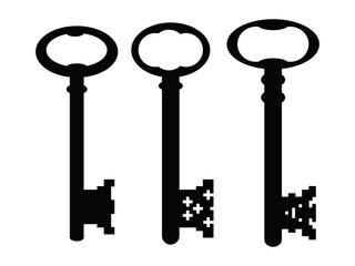 black gothic vintage keys