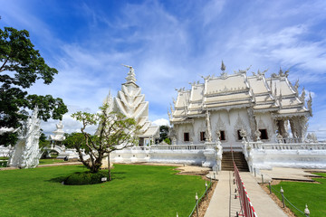 White Temple - Wat Rong Khun in Chiang Rai at sunny day