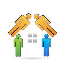 House Real Estate logo abstract vector icon