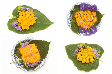 Variety of asian dessert ,made of  bean-paste ,egg yoke fudge ba