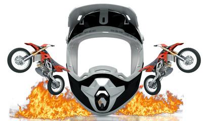 Motocross, casco, enduro, gara