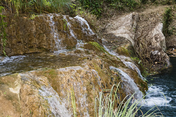 Mountain Lake and Waterfall