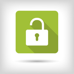 Open padlock. App