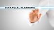 Finger Highlighting Financial Planning Words