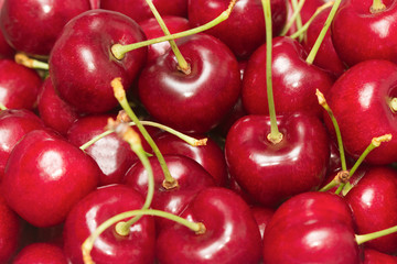 red cherry fruit background