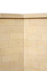 Hintergrund moderne Kalksteinmauer als Sichtschutz
