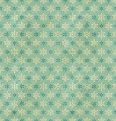 seamless vintage pattern with snowflakes