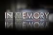 In Memory Letterpress - 69380387