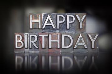 Happy Birthday Letterpress