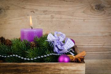 lila weihnachtskranz