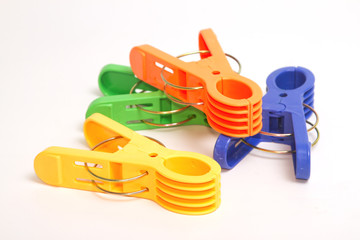 colorful clothes pins