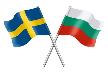 Flags: Sweden and Bulgaria