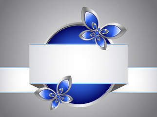 Glass butterfly and banner