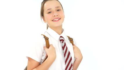 Smiling confident young schoolgirl