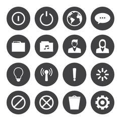 Black and White mobile phone icons connection set