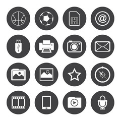 Black and White mobile phone icons