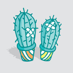 Love hurts cactus with adhesive bandage