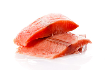 salmon fillet. Fresh sliced salmon fish