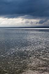 Dark sea.