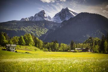 Watzmann Massiv bei Berchtesgaden in Bayern
