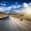canvas print picture - mountain road