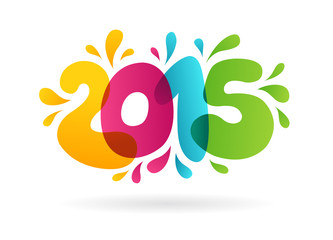 2015 - Happy New Year background. Vector illustration.