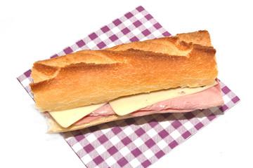 sandwich jambon et fromage