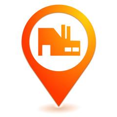 industrie sur symbole localisation orange